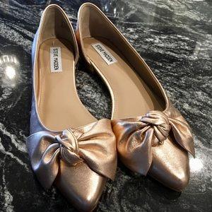 ✨Steve Madden Rose Gold Bow Ballet Flats✨